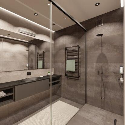 Дизайн квартиры Запорожье ванная в новостройке