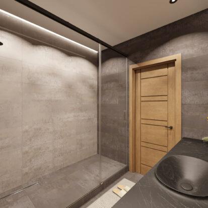Дизайн квартиры Запорожье ванная душевая кабина