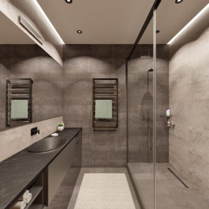 Современный дизайн квартиры - Ванная