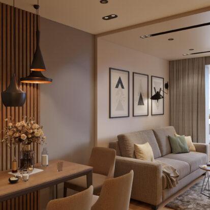 Современный дизайн квартиры Запорожье в новостройке