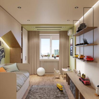 Современный дизайн квартиры - детская для мальчика