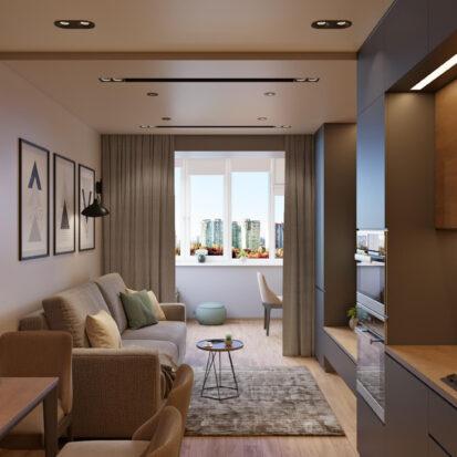Современный дизайн квартиры Запорожье кухня