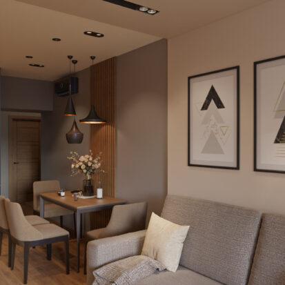 Современный дизайн квартиры Запорожье проект