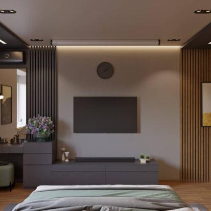 Дизайн квартиры Запорожье спальня в новостройке