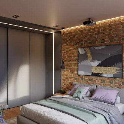 Дизайн квартиры Запорожье спальня в 3х комнатной квартире
