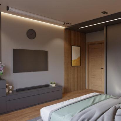 Современный дизайн квартиры - спальня