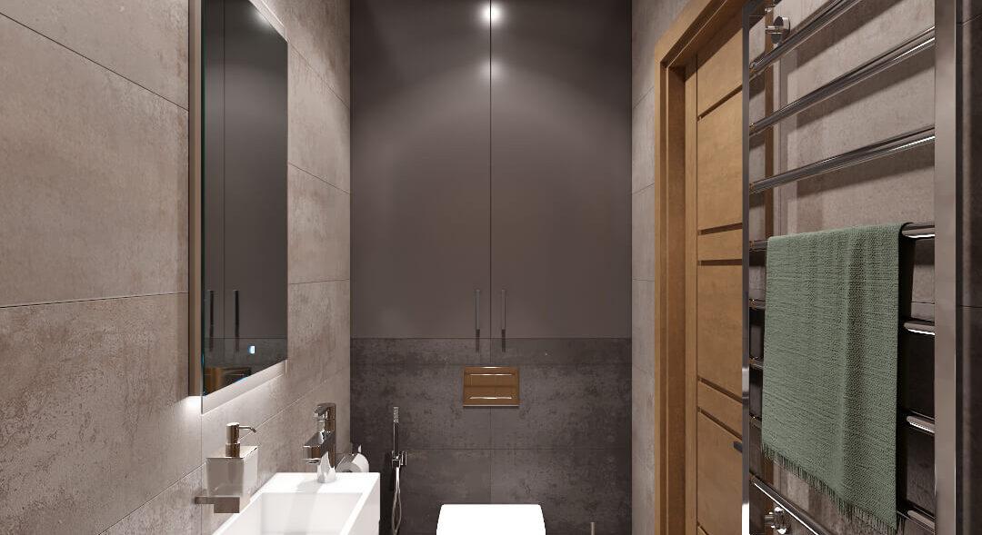 Дизайн квартиры Запорожье туалет
