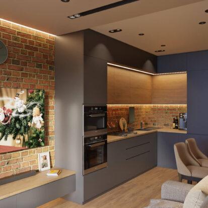 Современный дизайн квартиры запорожье совмещенная кухня