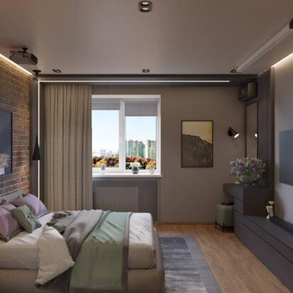Интерьер спальни дизайн квартиры Запорожье