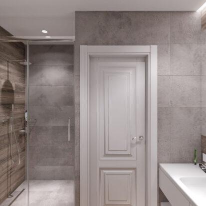 Дизайн и ремонт ванной в одноэтажном жилом доме Запорожье