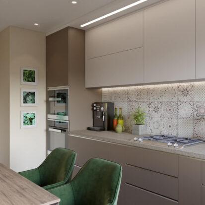 Дизайн кухни в одноэтажном жилом доме Запорожье