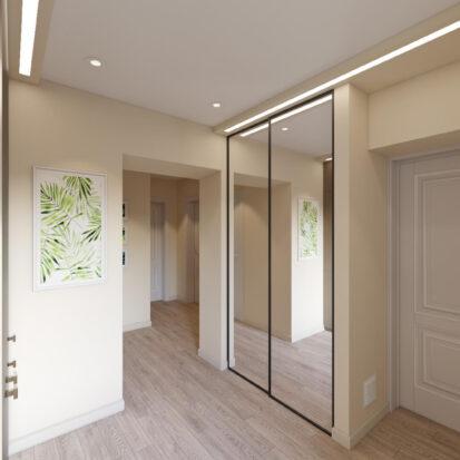 Дизайн и ремонт прихожей в одноэтажном жилом доме Запорожье