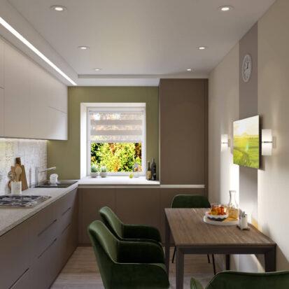 Дизайн и ремонт загородного дома Запорожье кухня