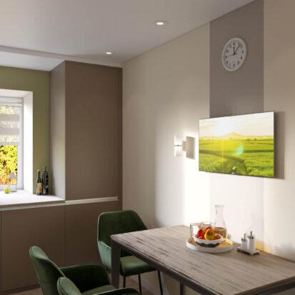 Дизайн и ремонт одноэтажного дома Запорожье кухня