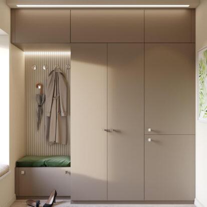 Дизайн и ремонт одноэтажного дома Запорожье прихожая
