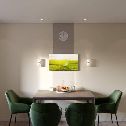 Дизайн и ремонт одноэтажного жилого дома Запорожье кухня
