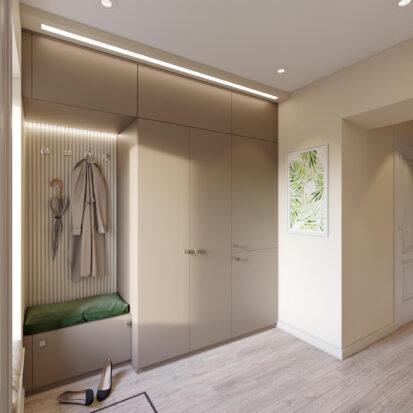 Дизайн и ремонт одноэтажного жилого дома Запорожье прихожая