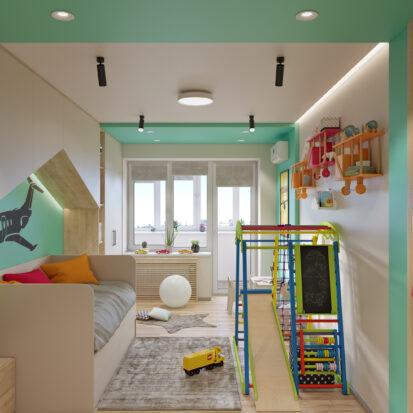 дизайн и ремонт детской Запорожье
