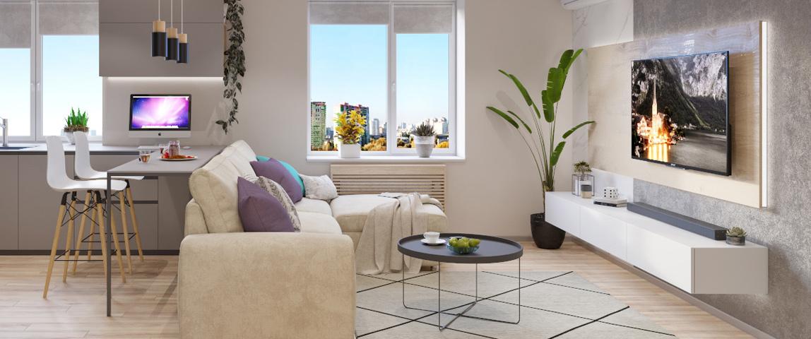 дизайн и ремонт квартиры - гостиная
