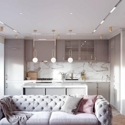Дизайн и интерьер 3х комнатной квартиры Запорожье