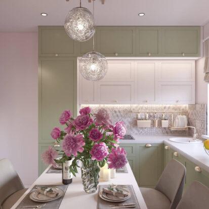 Дизайн квартиры Запорожте кухня цена