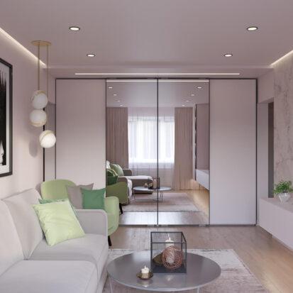 Дизайн квартиры Запорожье гостиная цена