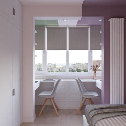 Дизайн квартиры Запорожье детская для девочки дизайн проект