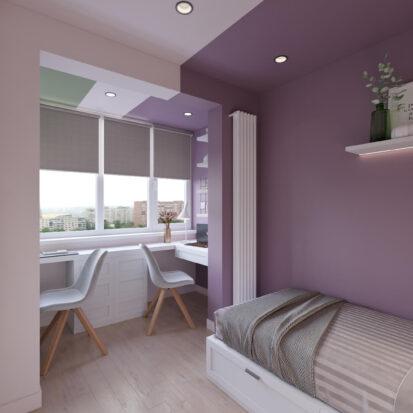Дизайн квартиры Запорожье интерьер детской для девочки