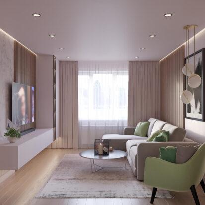 Дизайн квартиры Запорожье проект гостиной