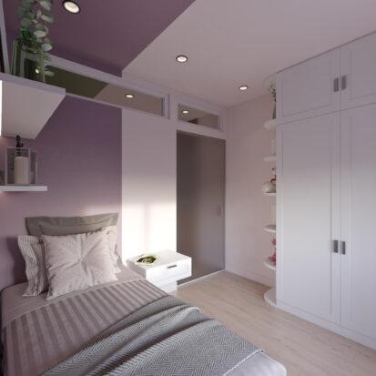 Дизайн квартиры Запорожье проект детской для девочки