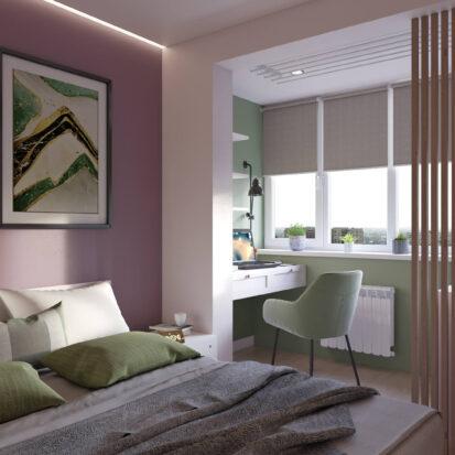 Дизайн квартиры Запорожье спальня цена