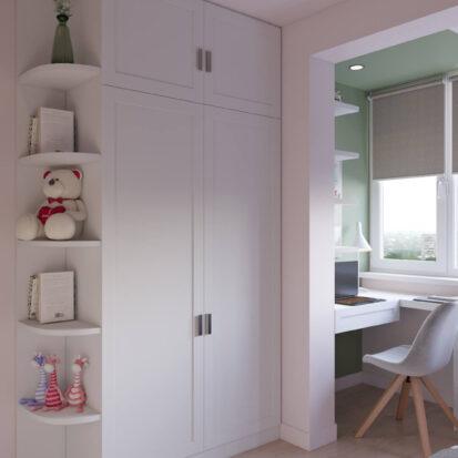 Элитный дизайн квартиры Запорожье детская для девочки