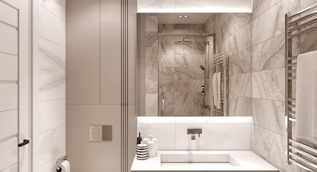 Дизайн двухэтажной квартиры ванная дизайнерский ремонт