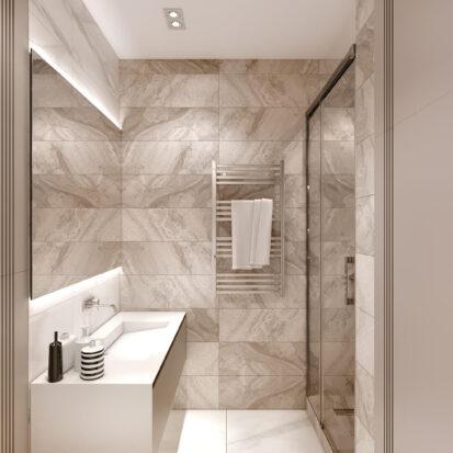 Дизайн двухэтажной квартиры ванная интерьер