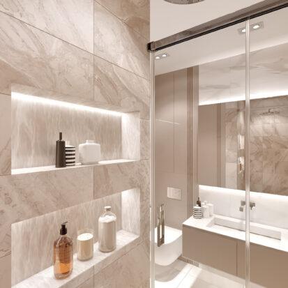 Дизайн двухэтажной квартиры ванная цена