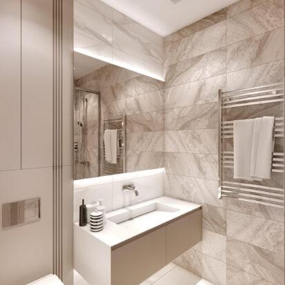Дизайн двухэтажной квартиры ванная