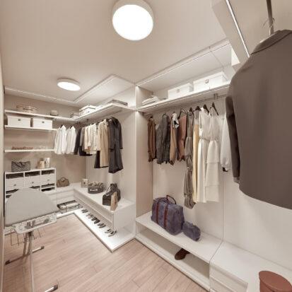 Дизайн двухэтажной квартиры гардеробная дизайн проект