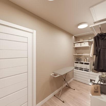 Дизайн двухэтажной квартиры гардеробная цена