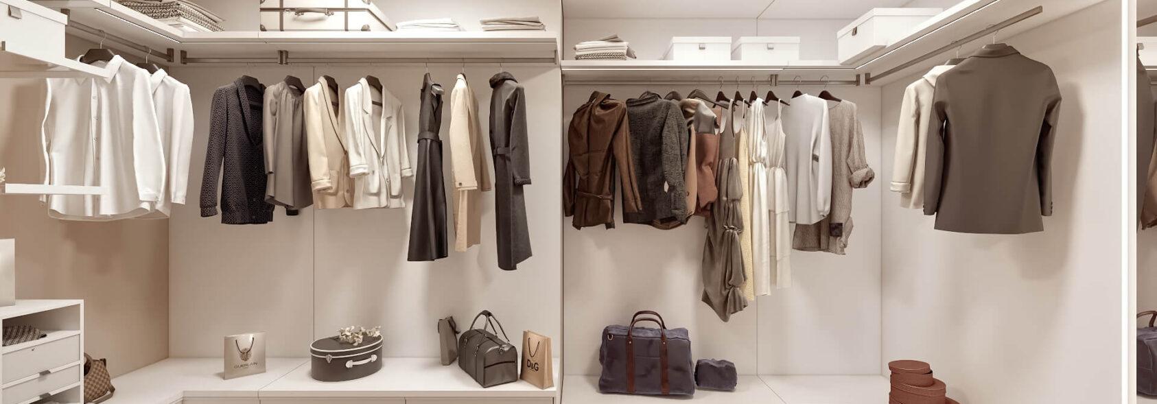 Дизайн двухэтажной квартиры гардеробная