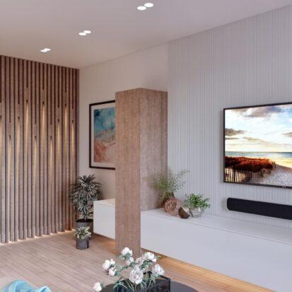 Дизайн двухэтажной квартиры гостиная дизайнерский ремонт