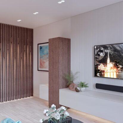 Дизайн двухэтажной квартиры гостиная цена 1