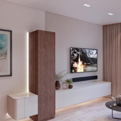 Дизайн двухэтажной квартиры гостиная 1