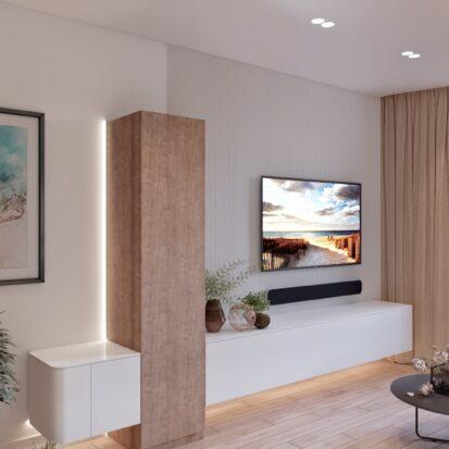 Дизайн двухэтажной квартиры гостиная