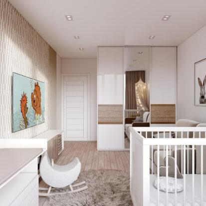 Дизайн двухэтажной квартиры детская цена 1