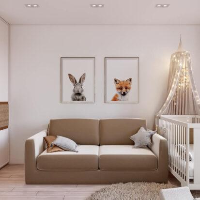 Дизайн двухэтажной квартиры детская 1