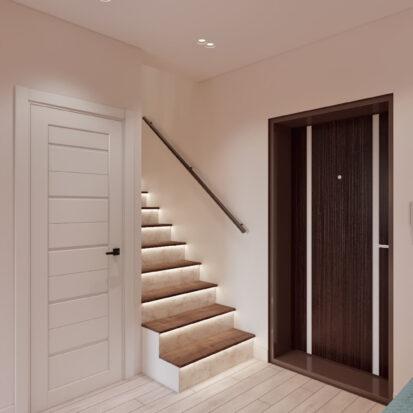 Дизайн двухэтажной квартиры дизайн проект прихожей