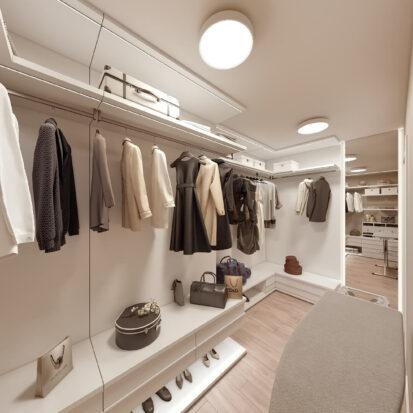 Дизайн двухэтажной квартиры интерьер гардеробной