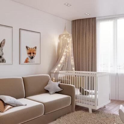 Дизайн двухэтажной квартиры интерьер детской 1