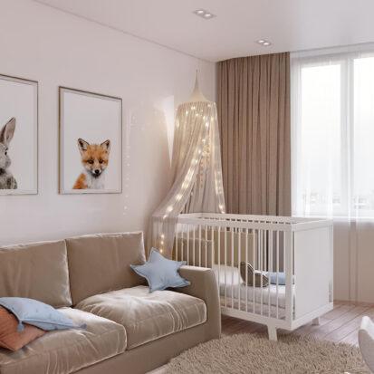 Дизайн двухэтажной квартиры интерьер детской