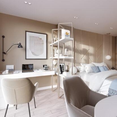 Дизайн двухэтажной квартиры интерьер кабинета